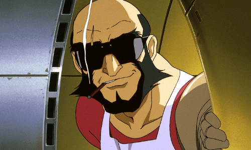 Jet Black from Cowboy Bebop Best Bearded Anime Characters