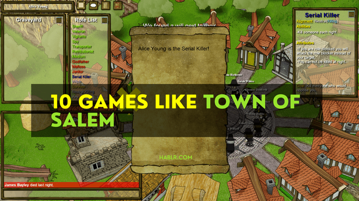 10 GAMES LIKE TOWN OF SALEM