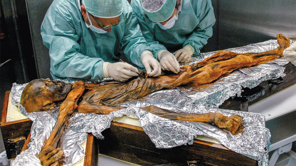Otzi the Iceman Real Picture