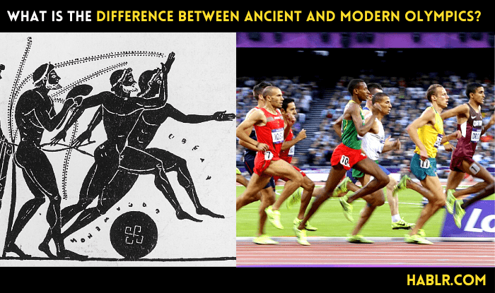 What is the Difference Between Ancient and Modern Olympics?